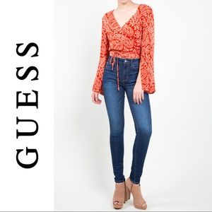 Guess 1981 Skinny Jeans Blue Denim Guess Jeans 33